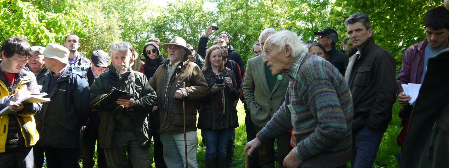 Farm Woodland Forum delegates at Little Hidden Farm, Hungerford